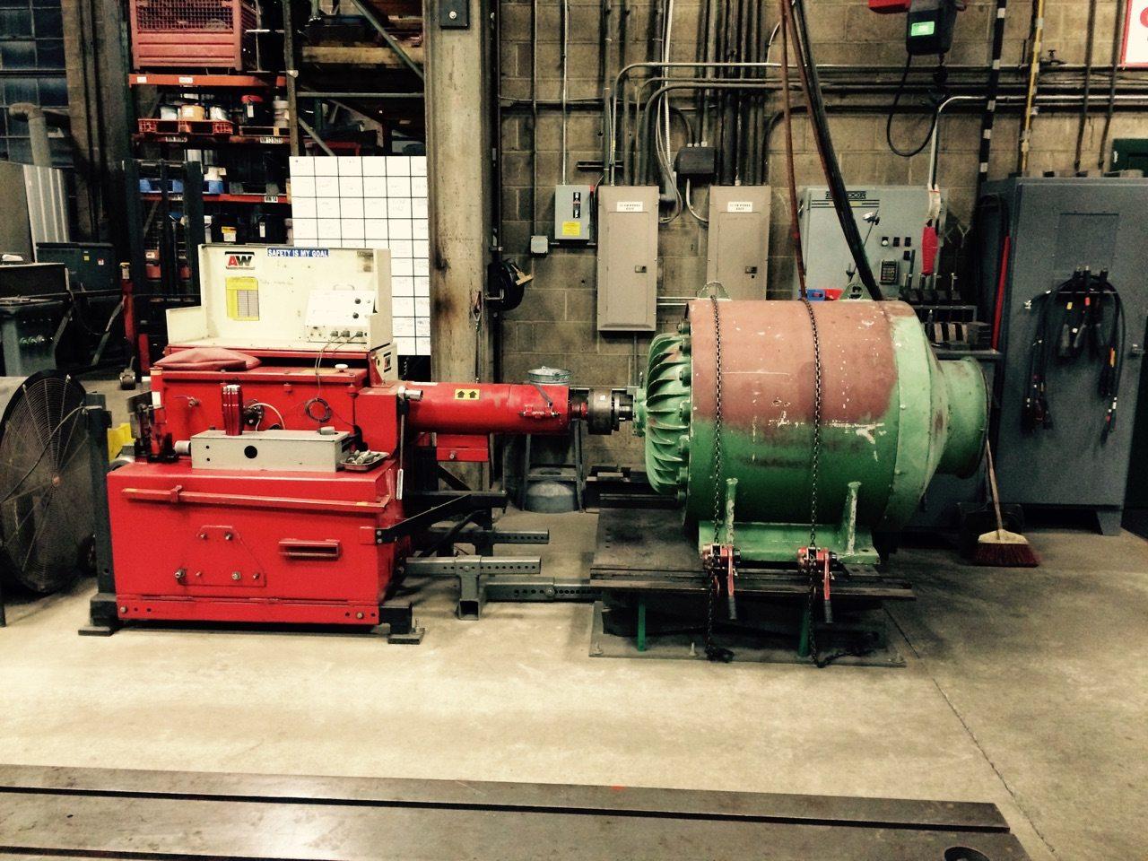Motor testing matlock for Testing an electric motor